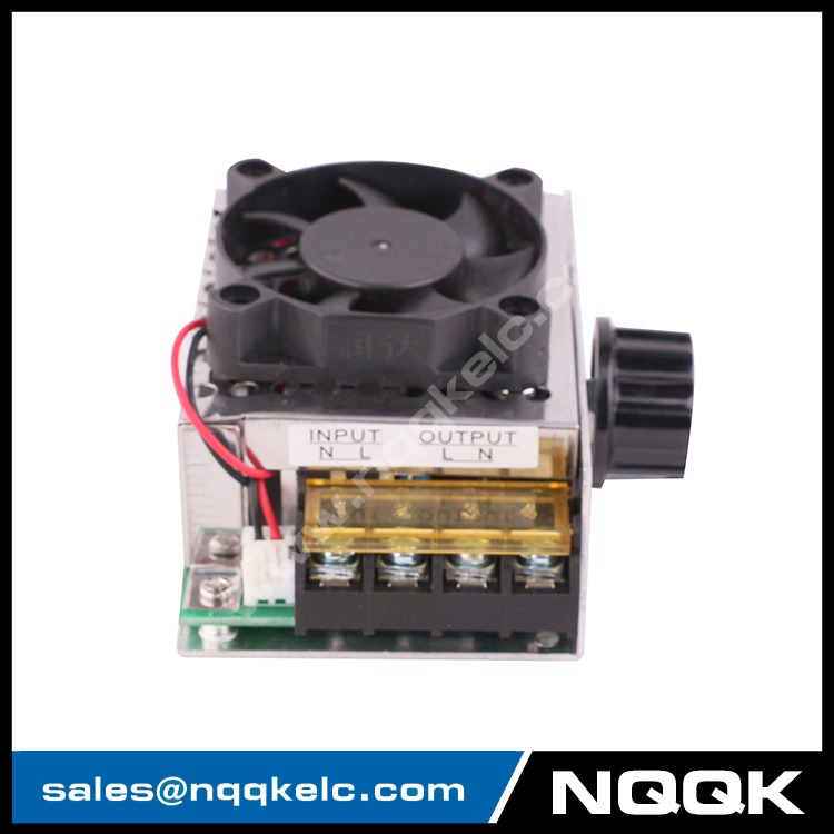 AC 220V 4000W Voltage Regulator Motor Speed Controller Fan Thermostat Dimmer