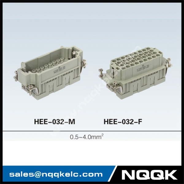 HEE 10, 18, 32, 46, 64, 92 pin Insert Series heavy duty connector