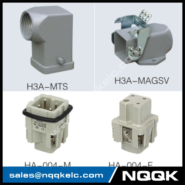 HA series 4 Poles of connector heavy duty power connector