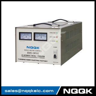 SVC 5KVA Desk Type 1 Servo Type 1Phase Series Voltage Stabilizer Regulator
