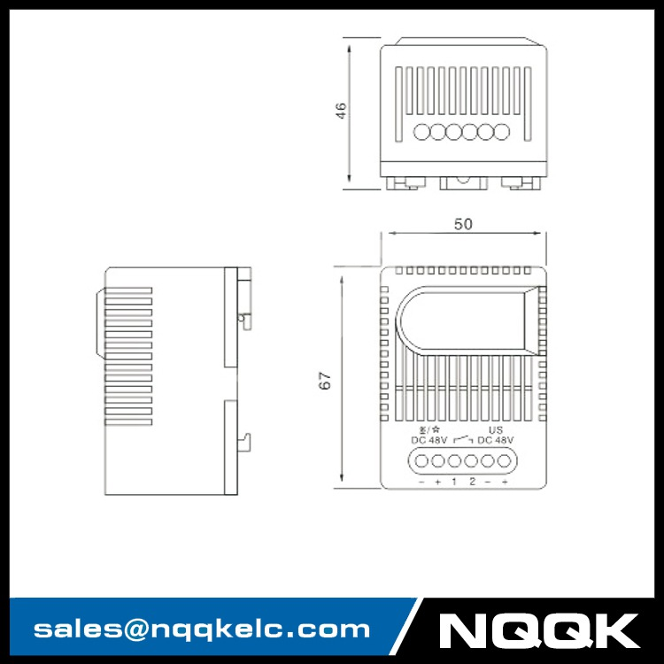 SM 010 (24VDC + 48VDC) Electronic Relay Thermostats