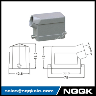 H6B Hood Housing industrial heavy duty rectangle connector