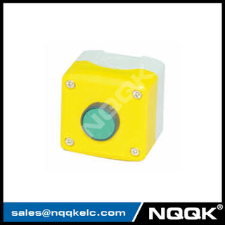 green red flush spring return push button XDL control push button box