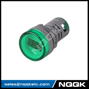 NK9999 Mini type 22 mm digital display LED Voltage indicator Indicator light lamp with AC Voltage Meter voltmeter
