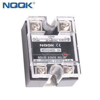 AC/AC 10-120A Single Phase AC SSR Solid State Relay with LED Indicator