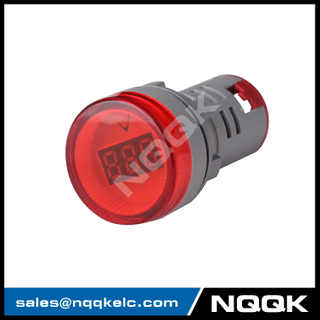 NK9990 Mini type 22 mm digital display LED Voltage indicator Indicator light lamp with AC Voltage Meter voltmeter