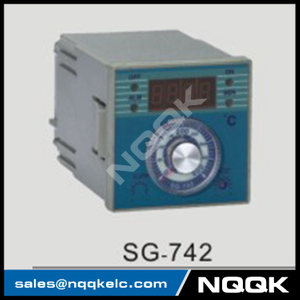 SG-742 72mm K J PT100 sensor adjustion Digital Industrial Temperature Controller for plastic rubber packing machinery