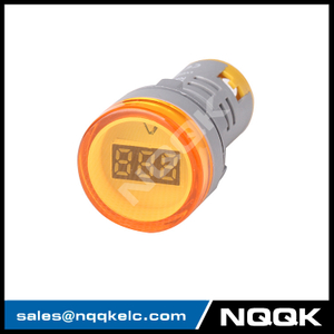 NK9997 Mini type 22 mm digital display LED Voltage indicator Indicator light lamp with AC Voltage Meter voltmeter