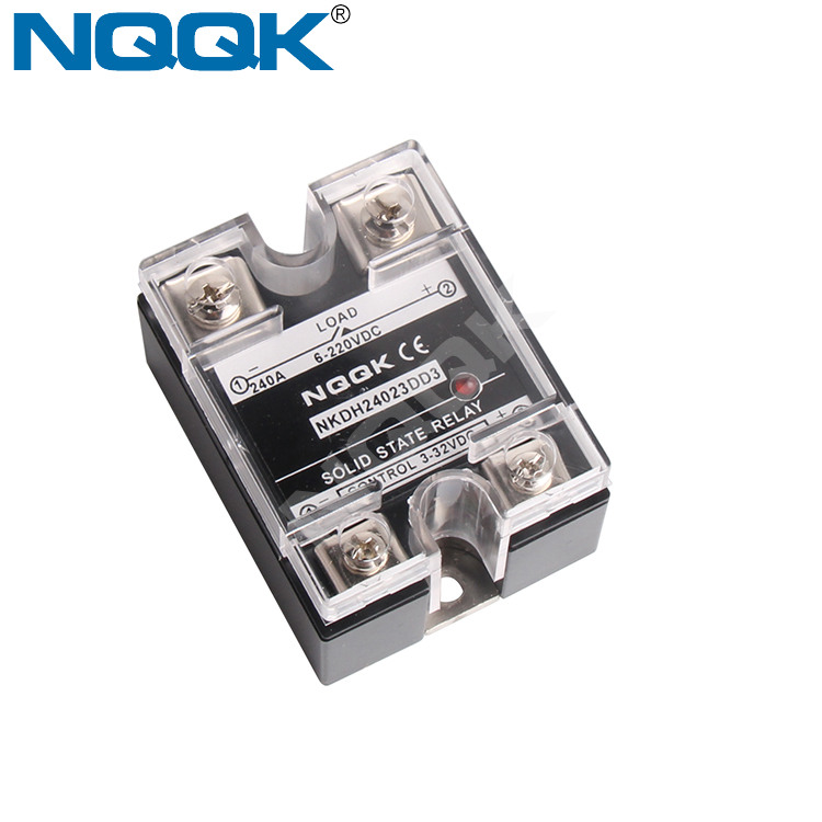 manufacturing company 200A 240A Single Phase DC DC SSR Solid State Relay