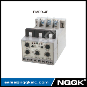 EMPR-4E electronic over current relay with din rail
