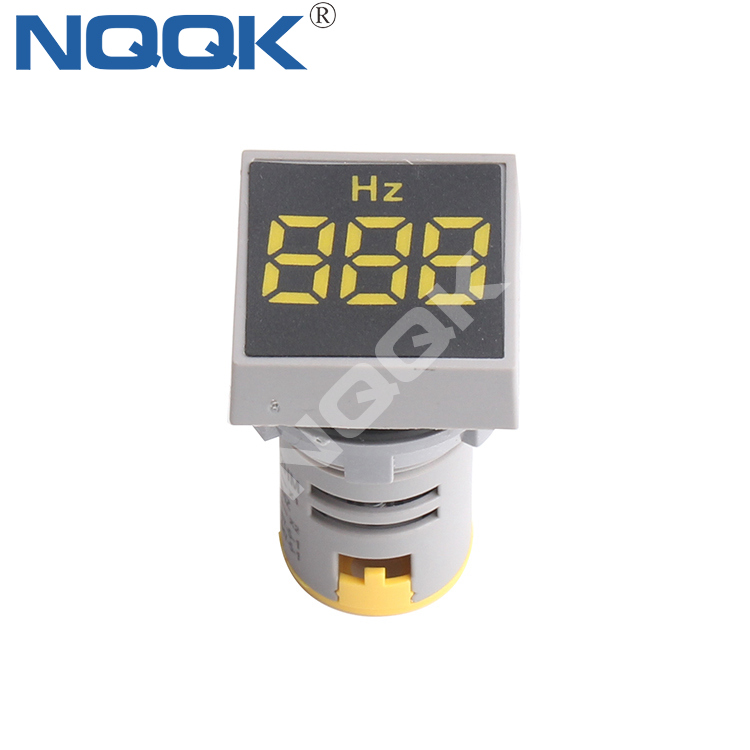 0~99Hz 22mm Square Mini LED Indicator Light Lamp HZ Hertz Frequency Table Meter