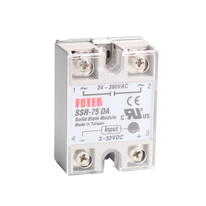 SSR-75DA 75A DC/AC Single Phase Direct Current SSR Solid State Relay