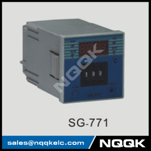 SG-771 72mm K J PT100 sensor adjustion Digital Industrial Temperature Controller for plastic rubber packing machinery
